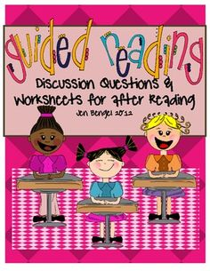 prompting comprehension questions and printable discussion question pages that can be used with any literature book:)