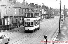 Chesterfield looking towards Heely bottom. Meersbrook Park Road on right just after Pedestrian crossing. 'Taylors' newsagent on corner. Little London Place on the Left opp tram on the right Where my Wardley family live early Sources Of Iron, Pedestrian Crossing, Sheffield City, London Places, Old Street, Derbyshire, Public Transport, Rome, The Past
