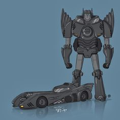 What these amazing movie cars would look like as Transformers! #amazingart #supercool #transformers