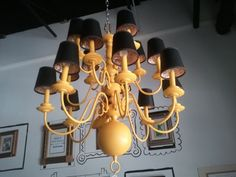 Chandelier (large yellow) - atl craigslist