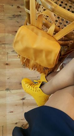 in love with mustard and fringes #converse#allstars