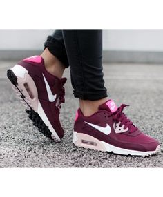 fdfcf55c217 Nike Air Max 90 Essential Burgundy Maroon Trainers Air Max 95