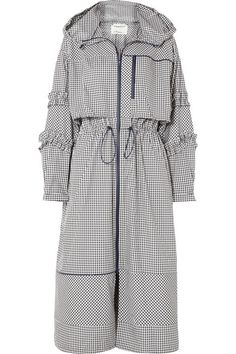 outfits with shorts Phillip Lim - Ruffled Gingham Canvas Parka - Black Elisa Cavaletti, Long Parka, Short Outfits, Black Outfits, Dope Outfits, Fashion Outfits, Abaya Fashion, 3.1 Phillip Lim, Black Phillip