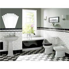 metro tiles & deco mirror....
