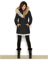 BETSEY JOHNSON - Hooded Lace-Up Puffer Coat - Large