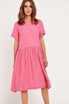 Peter Jensen Gathered Pink Smock Dress