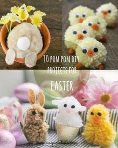 Una Pasqua a pom pom! * Pom pom Easter!