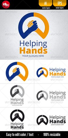 Helping Hands — Vector EPS #give #volunteer • Available here → https://graphicriver.net/item/helping-hands/6244091?ref=pxcr