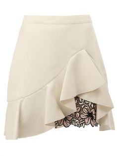 GIAMBATTISTA VALLI ラッフル レイヤードスカート. #giambattistavalli #cloth #レイヤードスカート