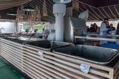 Fish market in Szczecin, Poland