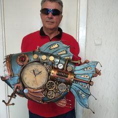 Steampunk Clock, Decor, Steampunk Watch, Decoration, Decorating, Deco