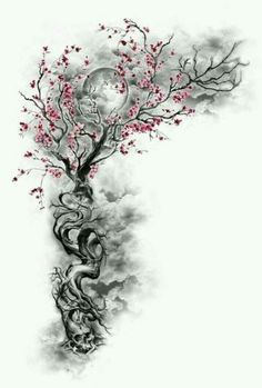 Cherry Blossom Tattoo: Meaning, Designs, Ideas and Much More! Sakura tattoos have been taking the world by storm lately. From what each color tattoo means to plenty of designs, this article will make you want to get a cherry blossom tattoo for yourself! Body Art Tattoos, New Tattoos, Tatoos, Wing Tattoos, Cover Up Tattoos, Cherry Blossom Tree, Blossom Trees, Cherry Blossom Tattoos, Cherry Blossom Tattoo Shoulder