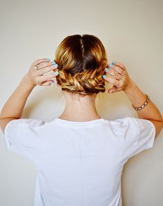 low fishtail updo