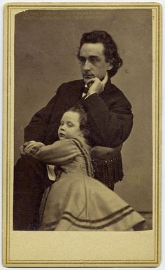 Edwin Booth, one of the most admired actors of the 19th century.  Older brother of John Wilkes Booth, he saved Robert Todd Lincoln's life when Lincoln fell on the train tracks at a station in New Jersey at the height of the Civil War. EDWIN BOOTH  1864