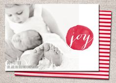 Christmas Card Photo Holiday Card: PRINTABLE Joy by cardsetcetera