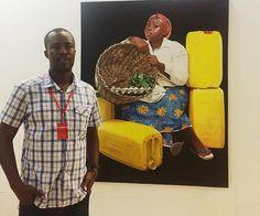 #ArtistPortrait .  Jeremiah Quarshie   Gallery 1957   Ghana African Art, Ghana, Button Down Shirt, Men Casual, Portrait, Gallery, Artist, Mens Tops, Painting