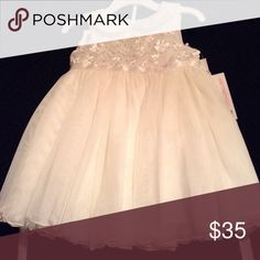 Formal dress White/off white dress with sequin flowers on it Bonnie Baby Dresses Formal