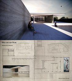 TEA-001: Paviljoen voor de wereldtentoonstelling van 1929 ontworpen door Ludwig Mies van der Rohe, te Barcelona, Spanje. Architectuur-Visualisatie / Rendering / 3D-Model, gemaakt met SketchUp, Podium en Photoshop, in 2010, voor Universiteit Antwerpen. © MaartenVC   Illustrator - Architect   Mechelen, België