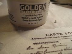 texture paste stamped