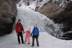 Family Adventures in the Canadian Rockies: Ice Caves and Frozen Waterfalls in Banff National Park