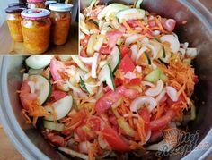 Rodinný klenot - jednoduchý salát do skleniček bez zavařování   NejRecept.cz Home Canning, Preserves, Pickles, Salsa, Buffet, Cabbage, Food And Drink, Vegetables, Cooking