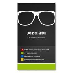 Certified Optometrist Optical Creative Innovative Business Card. Make your own business card with this great design. All you need is to add your info to this template. Click the image to try it out!