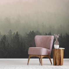 Oslo Forest Wall Mural OSLO by La Feature Wall Murals Capturing a panorama across a misty Scandinavian forest, the Vintage Forest Wall Mural takes you deep into the romance of the Nordic autumn. All wall mural to break out the hygge to. Graphic Wallpaper, Luxury Wallpaper, Modern Wallpaper, Original Wallpaper, Geometric Wallpaper, Amazing Wallpaper, Feather Wallpaper, Forest Wallpaper, Green Wallpaper