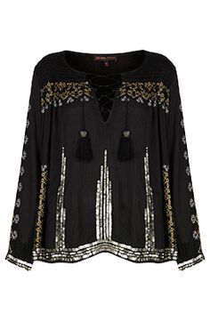 I love the EMBROIDERED SMOCK BLOUSE from the Kate Moss for Topshop collection at Nordstrom.