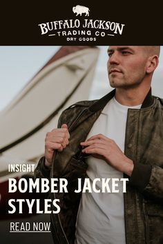 Bomber jacket styles have been evolving ever since the first flight jacket was created for pilots back in 1917 -- but there are a few versions that live on. Casual Professional, Best Gifts For Men, Men's Outerwear, Men's Leather, Leather Jackets, Pilots, Men's Style, Insight, Men's Fashion