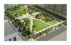 James Corner Field Operations with Frederick Fisher and Partners design rendering