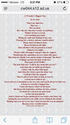 poem for all wrestling moms! Wrestling Quotes, Wrestling Mom, Wrestling Shirts, Senior Year Quotes, Boys Gymnastics, Mothers Of Boys, Mom Prayers, Sports Mom