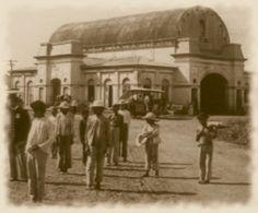 1900, Antigua Estacion del Ferrocarril en Nicaragua.