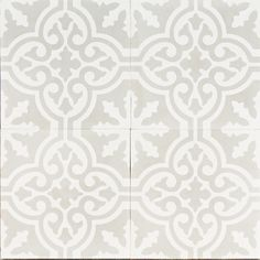 Light grey Moroccan bazaar- jatana interiors reproduction tile Love the subtle colors for the patten.
