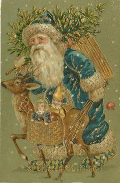 Victorian Christmas Postcard | Free Vintage Art
