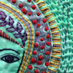 Sentinelle 18 Embroidery Applique, Beaded Embroidery, Embroidery Patterns, Machine Embroidery, Thread Art, Textiles, Textile Artists, Felt Art, Square Quilt