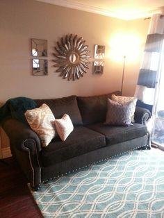 Karel and my new apartment decor! Cozy! #apartmenttherapy #homedecor #apartmentdecor #livingroom
