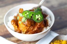 Slow Cooker Butter Chicken - an Indian dish, made in the crockpot! I'm dreaming of this with some fragrant basmati or even jasmine rice or naan.