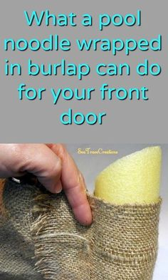 Decorate for the holidays with each new season with this frugal DIY four season burlap wreath that's made using a Dollar Store pool noodle! This is such and easy craft project and a great way to add to your home decor! Burlap Projects, Burlap Crafts, Craft Projects, Craft Ideas, Diy Ideas, Decor Ideas, Glue Gun Projects, Drop Cloth Projects, Recycling Projects