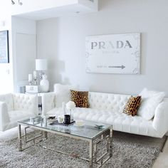 Grey and white decor living room modern white living room furniture sets be Modern White Living Room, Glam Living Room, Living Room White, Couches Living Room, Living Decor, Grey White Living Room, White Furniture Living Room, Apartment Decor, White Living Room Decor