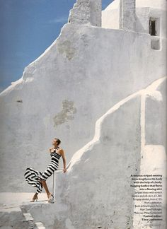 Nadja Auermann by Arthur Elgort Vogue UK August 1996