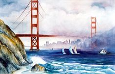 pen watercolor san fransisco | ... watercolor galleries california watercolors click here wine country