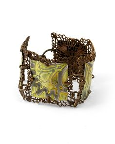 Make this Filigree Cuff with DecoEmbossed Altered Blanks & filigree wrapping!