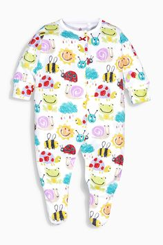 Buy Yellow Sunshine Print Sleepsuits Three Pack (0mths-2yrs) from the Next UK online shop