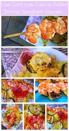 Low Calorie/Low Carb Grilled Shrimp Spaghetti Squash Pasta!