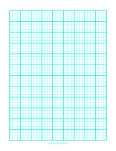 This LetterSized Graph Paper Has Five Aqua Blue Lines Every Inch
