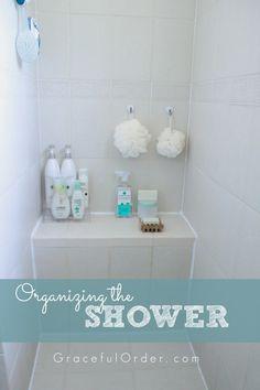 Organizing the shower