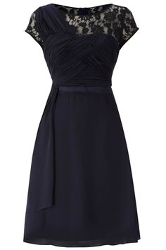 Very Classy Lace Dress in Navy