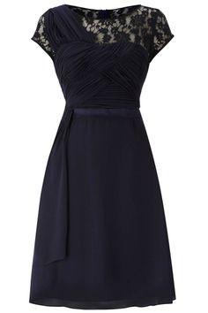 Classy Navy Lace Dress