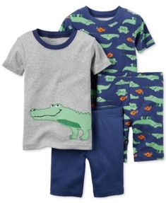 Carter's Baby Boys' 4-Piece Alligator Pajama Set