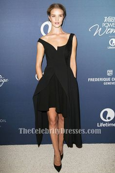 21b42cc43db Rosie Huntington-Whiteley Black Party Evening Dress Variety s Power Of  Women Luncheon - TheCelebrityDresses Black